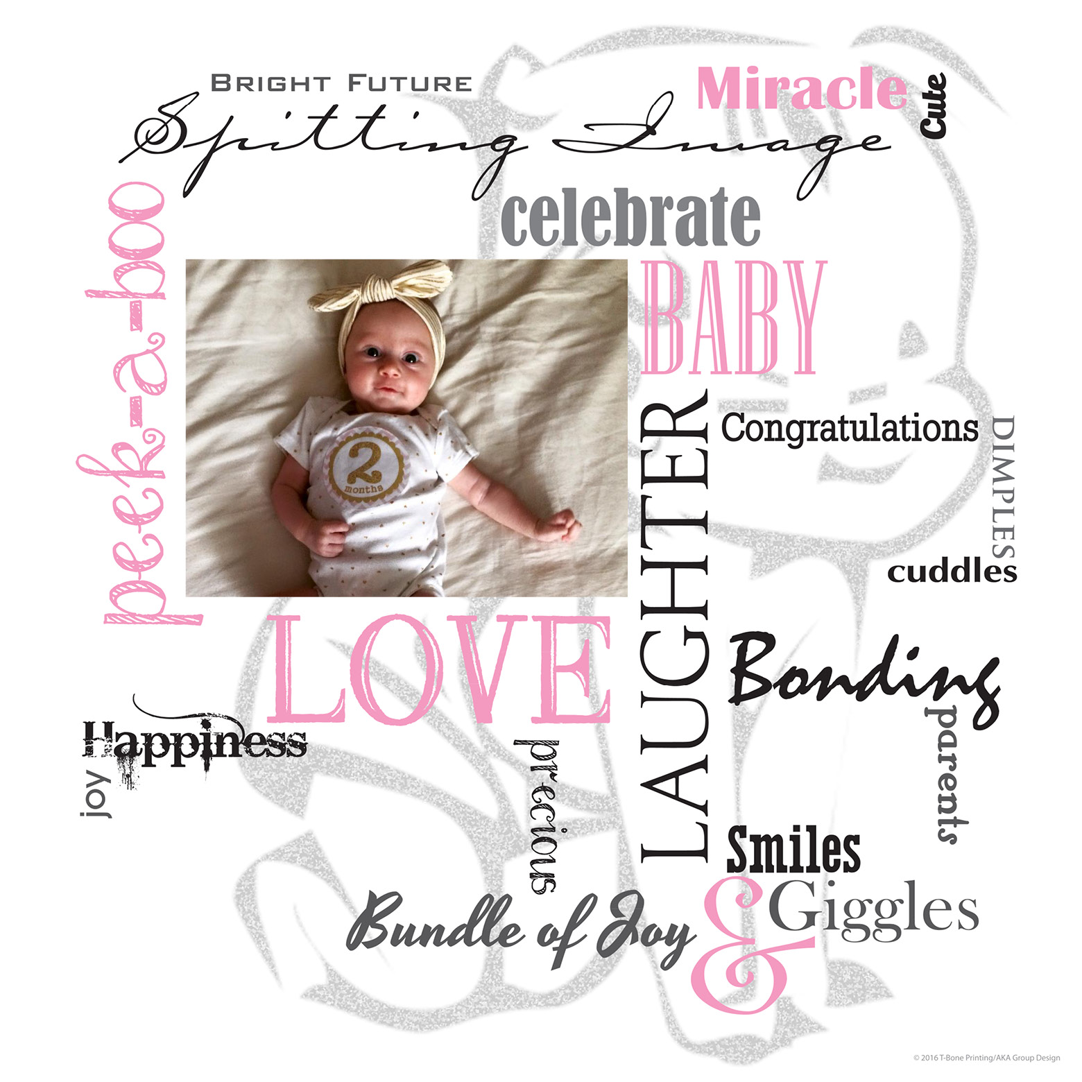 t bone printing and design 16 x 16 baby canvas